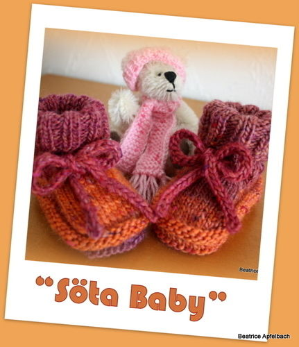 "Makerist - Booties ""Söta Baby"" - Strickprojekte - 1"