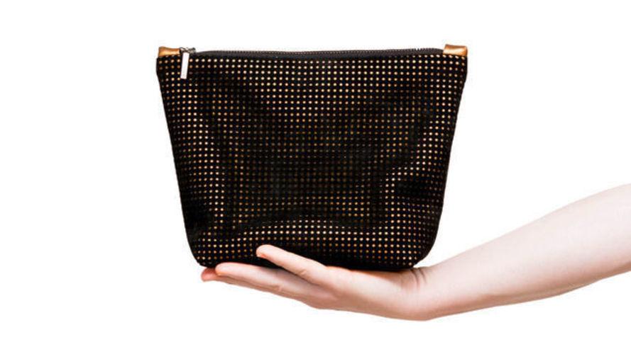 Makerist - Kosmetiktasche »The Black Line Copper & Cork« - Nähprojekte - 1