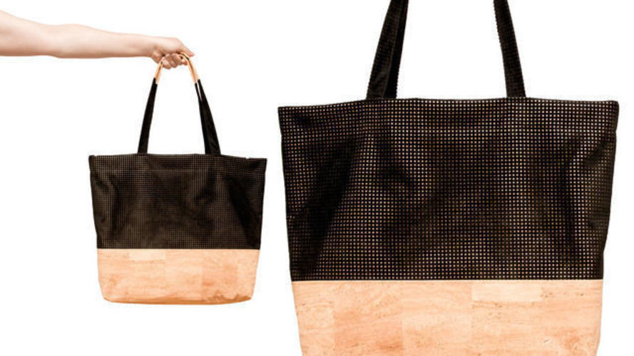 Makerist - Shopper »The Black Line Copper & Cork« - Nähprojekte - 1