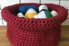 Makerist - Häkelkorb für den Wollvorrat - 1