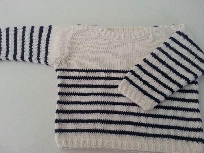 Makerist - Pull marin en laine et cachemire fait main - Créations de tricot - 1