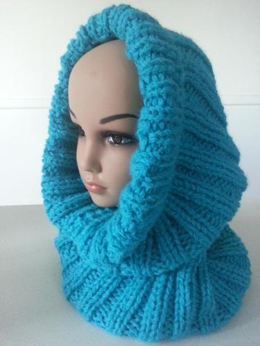 Makerist - Snood/cagoule VALENTINE fait main en laine et alpaga - Créations de tricot - 1