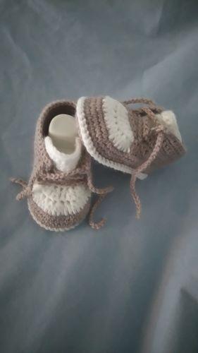 Makerist - Baskets 0/3mois au crochet  - Créations de crochet - 1