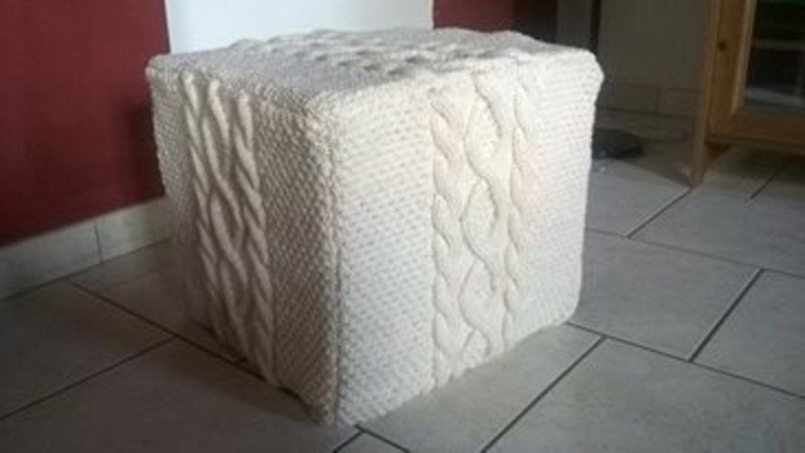 Makerist - housse pour pouf - Créations de tricot - 1