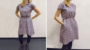 Basic dress mit shirring