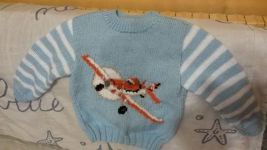 Makerist - PULL PLANES - Créations de tricot - 1
