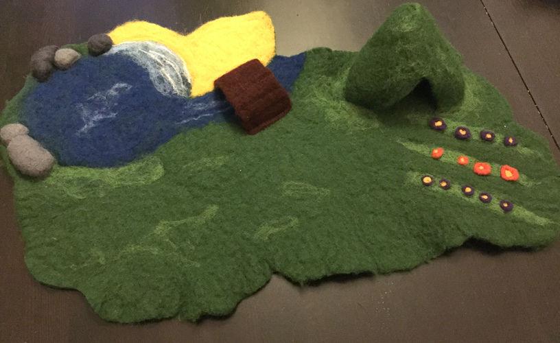 Makerist - 3D-Spiellandschaft - Filzprojekte - 1