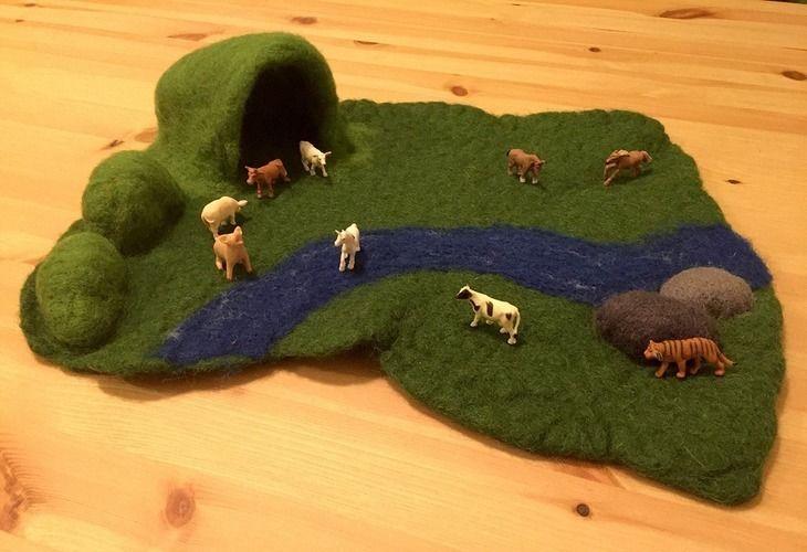 Makerist - Kleine Spiellandschaft zum Mitnehmen - Filzprojekte - 1