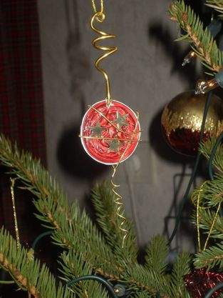 Kaffeekapsel-Weihnachtsanhänger