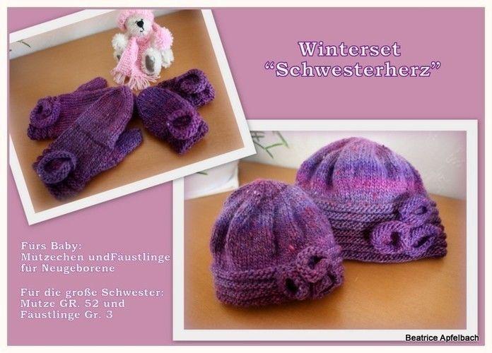Makerist - Winterset für Mädchen - Strickprojekte - 1