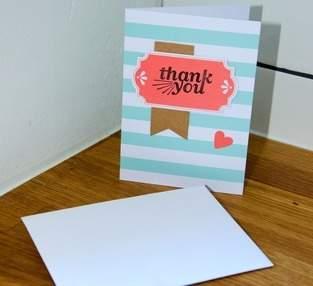 "Makerist - ""Thank you""-Karte - 1"