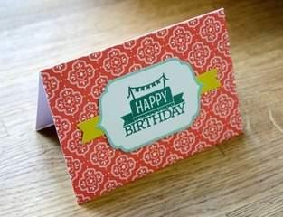 Makerist - Gebastelte Geburtstagskarte - 1