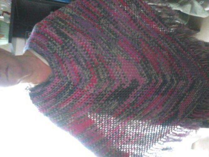 Makerist - poncho au crochet  laine bayadere a la vente - Créations de crochet - 1
