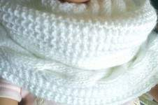 Makerist - snood blanc (double) - 1