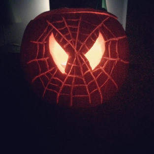 Spiderman Halloween Pumpkin