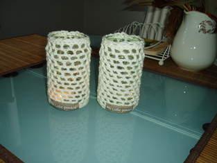 Makerist - gehäkelte Teelichter - 1