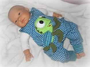 Baby Newborn Strampler mit Schildkröten Applikation