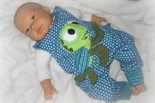 Makerist - Baby Newborn Strampler mit Schildkröten Applikation - 1