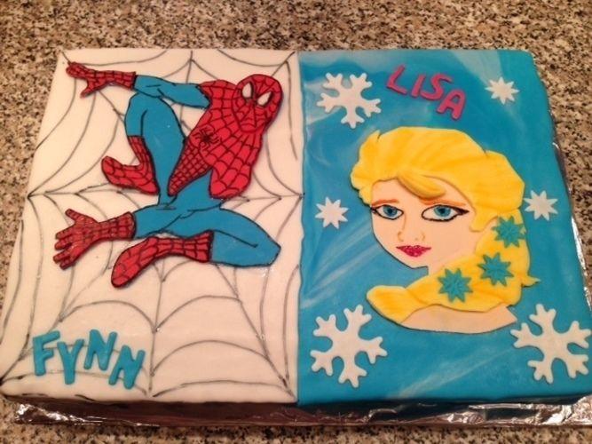 Spiderman Elsa Von Kathleen Ulrich Torten Cake Pops Und Cupcakes