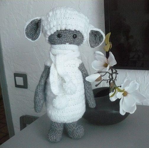 Makerist - Le mouton tout doux en habit d'hiver - Créations de crochet - 1