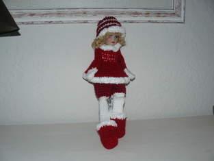 Makerist - La grande poupée de Noël en rouge et blanc  - 1
