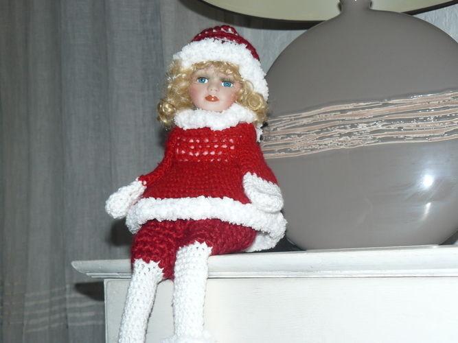 Makerist - La grande poupée de Noël en rouge et blanc  - Créations de crochet - 2