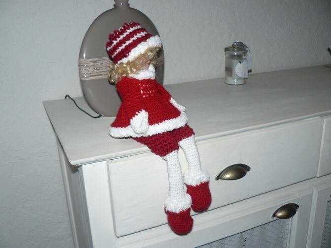 Makerist - La grande poupée de Noël en rouge et blanc  - Créations de crochet - 3