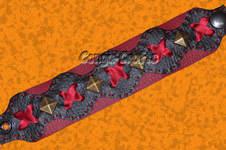 Makerist - Armband aus Kunstleder mit Nieten u. Bändern - 1