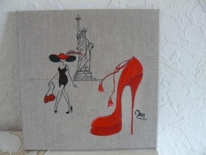Makerist - A travers le monde ,acrylique sur toile de lin - Autres créations - 1