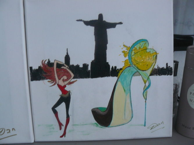Makerist - A travers le monde ,acrylique sur toile de lin - Autres créations - 2