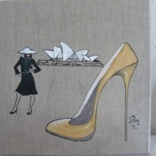Makerist - A travers le monde ,acrylique sur toile de lin - Autres créations - 3