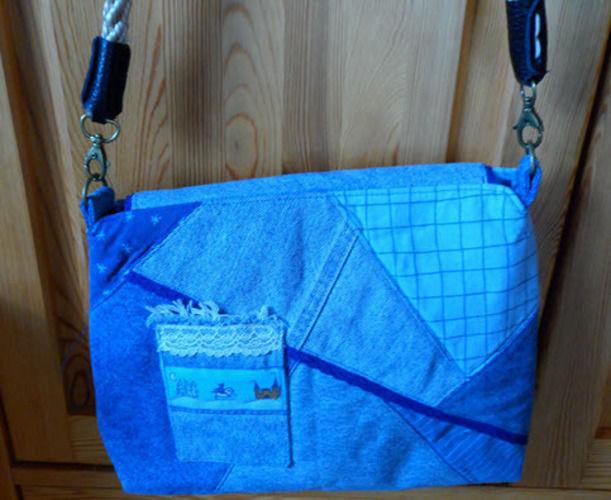 Makerist - Jeans- und Handytasche-Ein Geschenk für meine Nichte- - Nähprojekte - 1