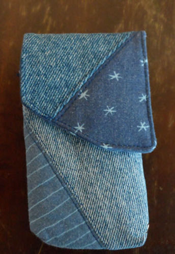 Makerist - Jeans- und Handytasche-Ein Geschenk für meine Nichte- - Nähprojekte - 2