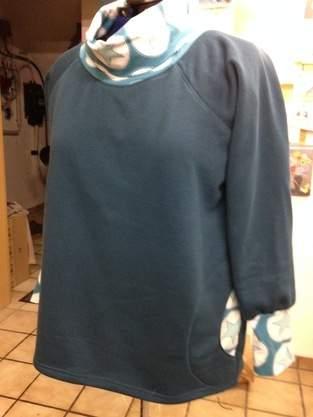 Makerist - petrolfarbenes Sweatshirt  - 1