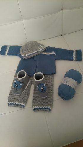 Makerist - Ensemble naissance baby boy  - Créations de crochet - 1