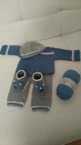 Makerist - Ensemble naissance baby boy  - Créations de crochet - 2