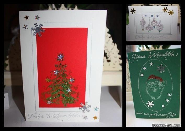 Makerist - Glitzer-Weihnachtskarten - DIY-Projekte - 1
