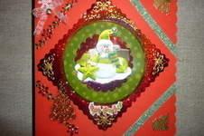 Makerist - Weihnachtskarte in grün und rot! - 1