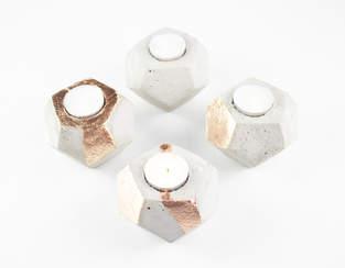 DIY Beton-Teelichter als Adventskranz