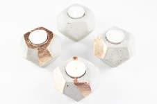 Makerist - DIY Beton-Teelichter als Adventskranz - 1