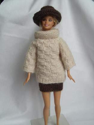 vêtements tricotés pour poupées mannequin