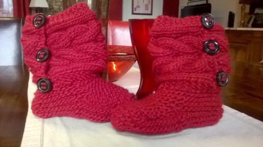 Makerist - Chaussons du Père Noël - Créations de tricot - 1