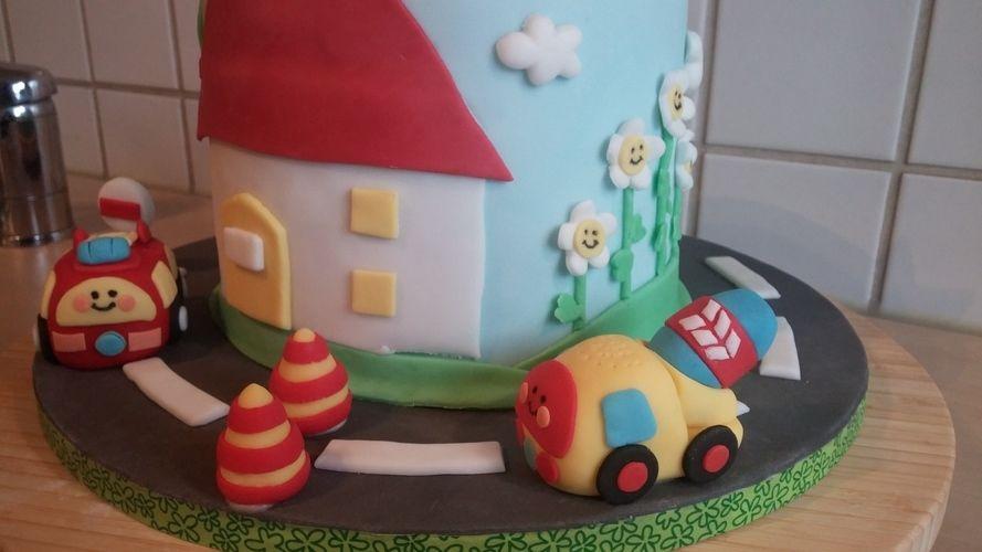 Makerist - Flitzer tüt Torte für Melvin - Torten, Cake Pops und Cupcakes - 3