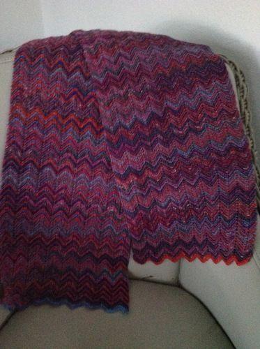 Makerist - Ein Schal aus Sockenwolle für mich. - Strickprojekte - 1