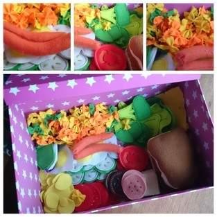 Lebensmittel aus Filz für meine kleine Tochter zu Weihnachten für Ihre Spielküche