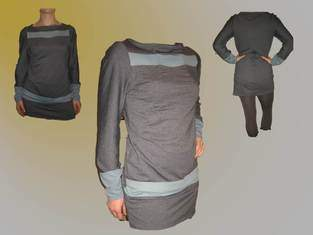 Makerist - Jerseykleid grau/blau - 1