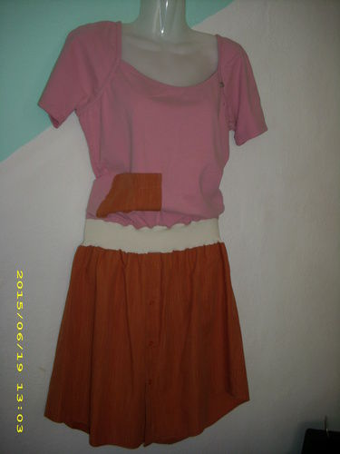 Makerist - upcyling Kleid aus einem Tshirt etwas Bundchenstoff und einem Herrenoberhemd - Nähprojekte - 1