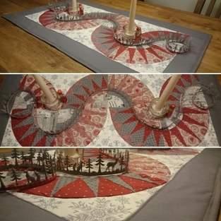 Makerist - Weihnachtlicher Tischläufer aus div. Fatquaters von Stoff&Stil,  für meinen Weihnachtstisch :-) - 1