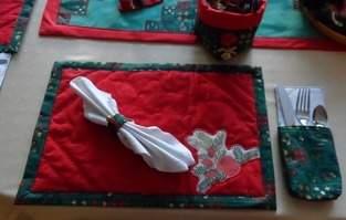 Weihnachtliches Tischset