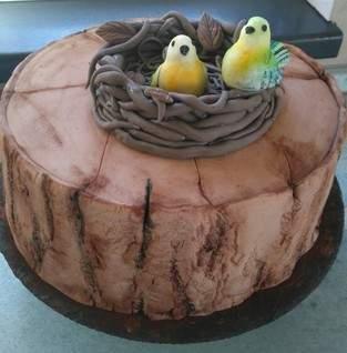 Schokoladenkuchen zum 80-ten Geburtstag